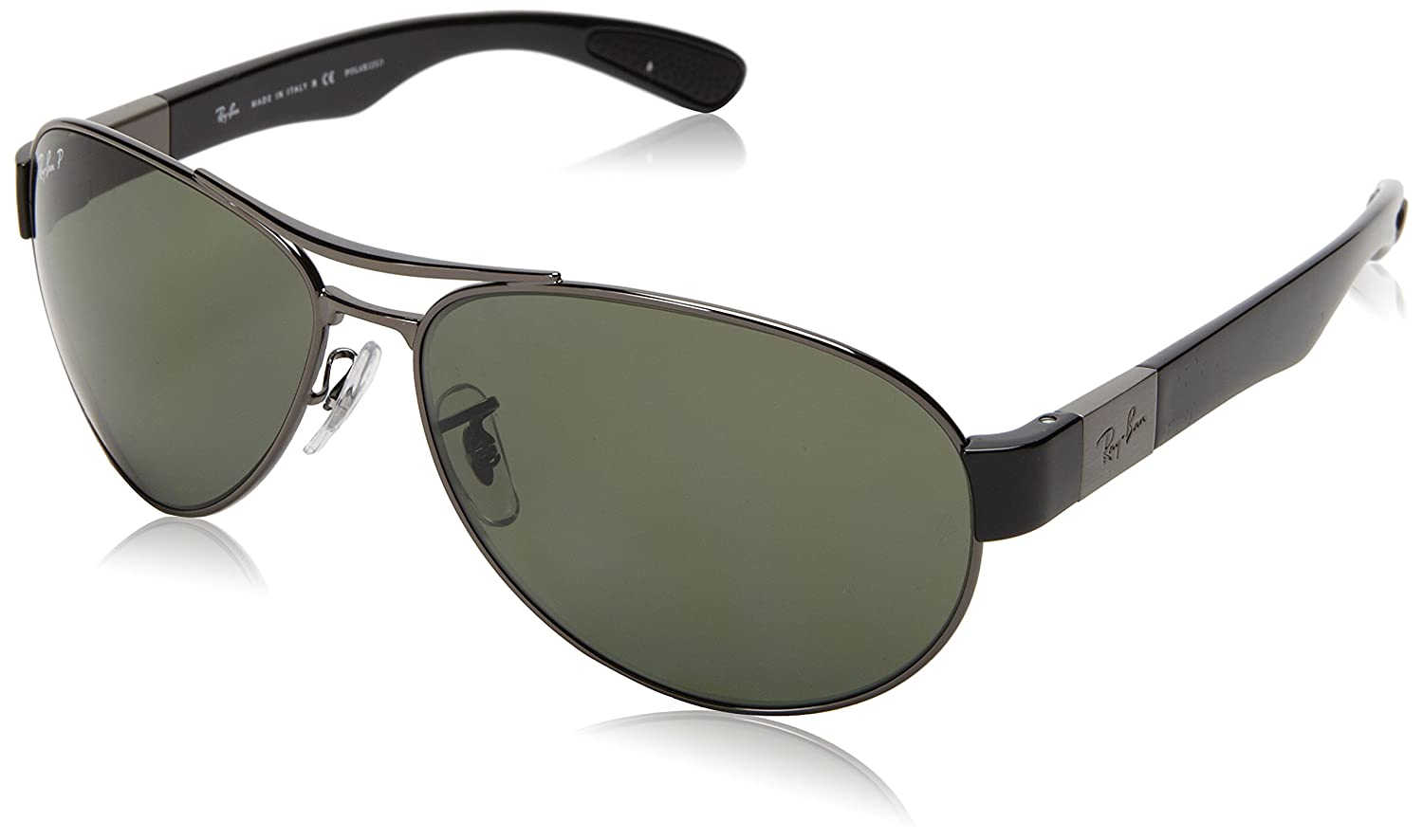 e3e0792d5e Amazon.com  Ray-Ban RB3509 - GUNMETAL Frame POLAR GREEN Lenses 63mm  Polarized  Ray-Ban  Clothing