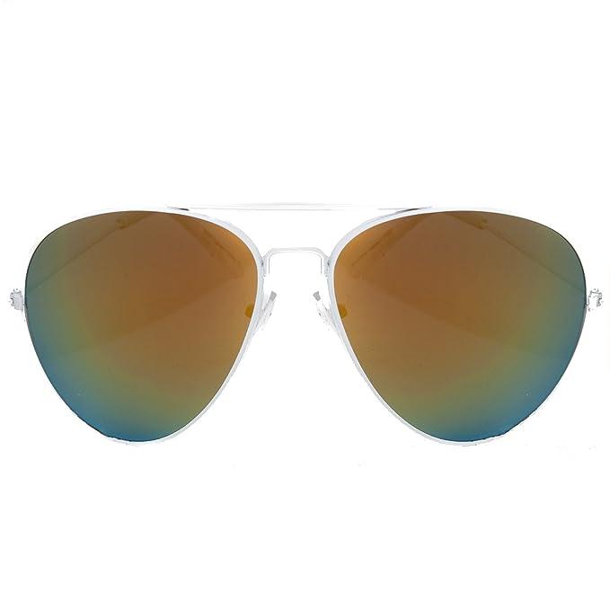 e683e4964c1efb Accessoryo - Lunettes de soleil - Homme Blanc blanc Onesize  Amazon.fr   Vêtements et accessoires