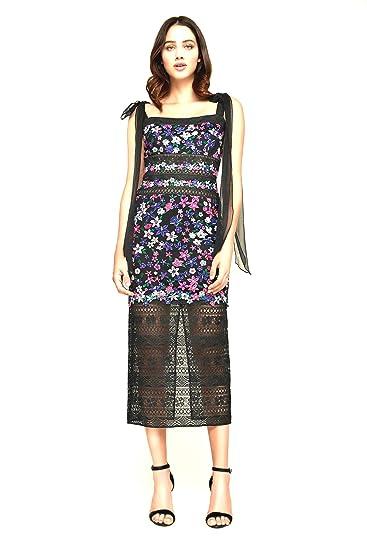 d94ca347bcd Tadashi Shoji Fletcher Embroided Mid - Length Dress at Amazon Women s  Clothing store