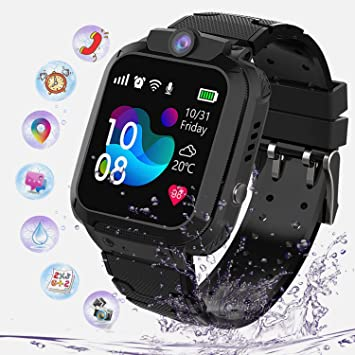 Niños Smartwatch Impermeable, Reloj Inteligente Phone con LBS ...