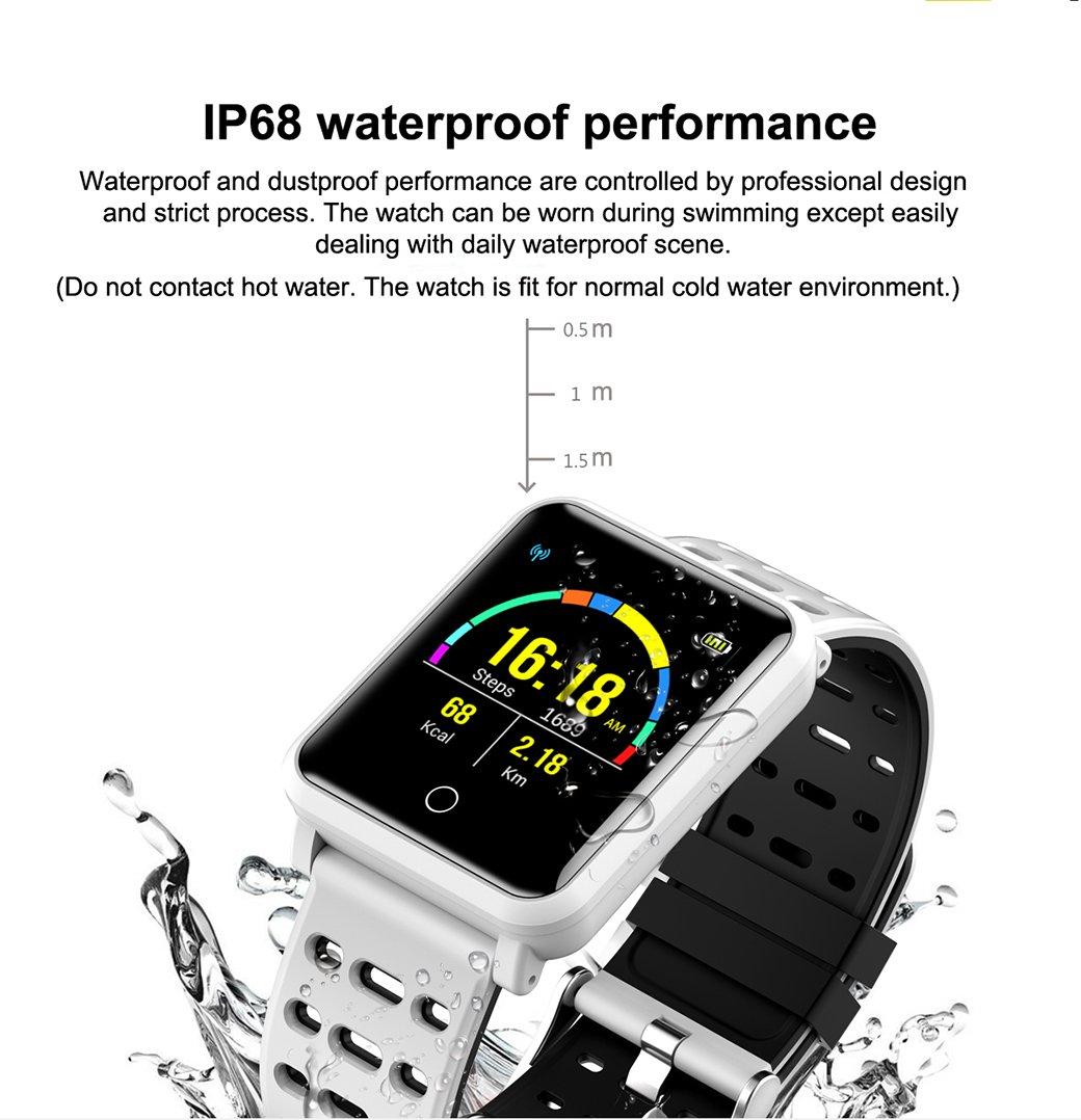 Tagobee TB06 IP68 Reloj Inteligente a Prueba de Agua Monitor de la Aptitud Presión Arterial podómetro Compatible con Android teléfono y iOS(Naranja): ...