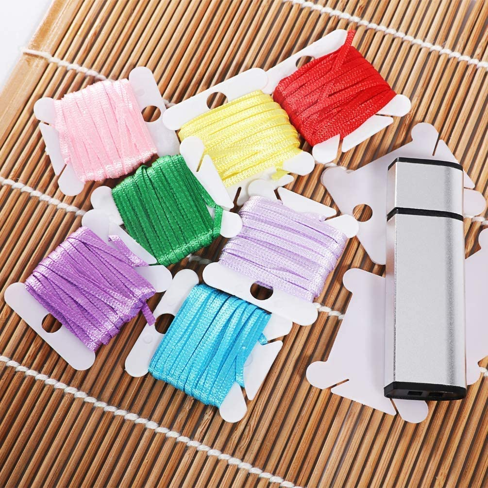 Plastic Floss Bobbins for Cross Stitch Embroidery Cotton Thread Craft DIY Sewing Storage Embroidery Thread Cards Cross Stitch Bobbin,White 150 Pieces