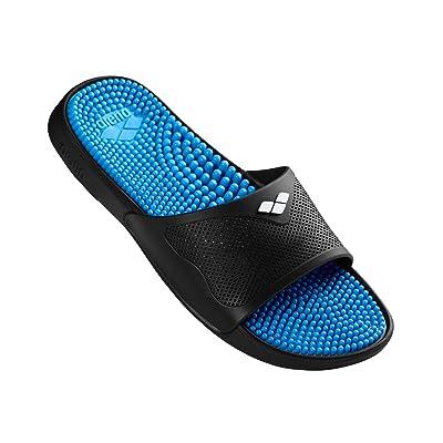 Arena Marco X Grip Men's Unisex Massage Bath Sandals, Men, 80635, Cyan-Black, 11: Sports & Outdoors