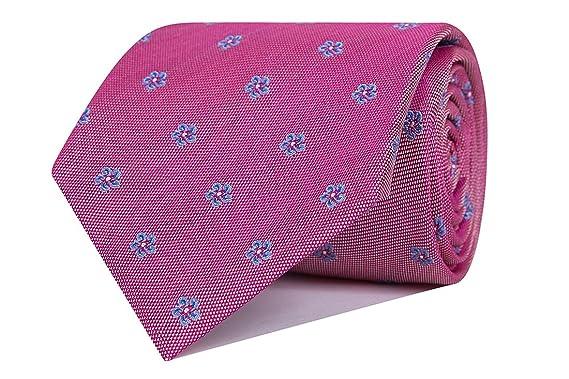 SoloGemelos - Corbata Seda Flores Rosa - Azul, Rosa - Hombres ...