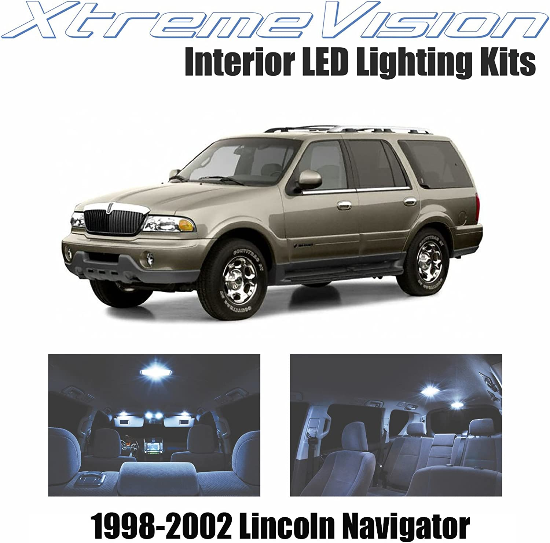 For 2008-2011 Lincoln Town Car LED Lights Interior Package Kit WHITE 12PCS