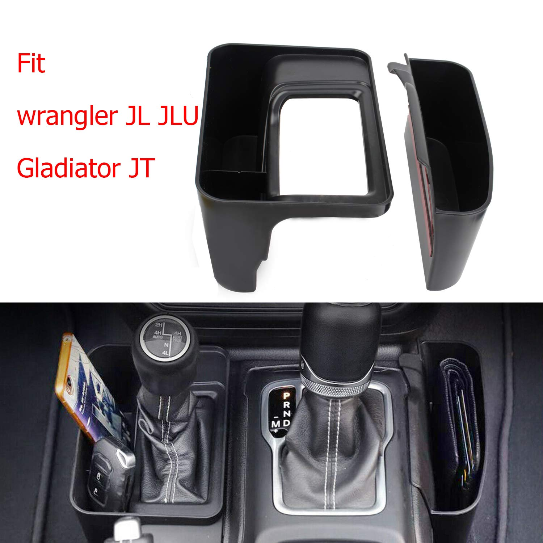 Reeauto JL GearTray Gear Shift Console Side Storage Box Auto Transmission Side Organizer Tray for 2018-2020 Jeep Wrangler JL JLU /& 2020 Jeep Gladiator JT