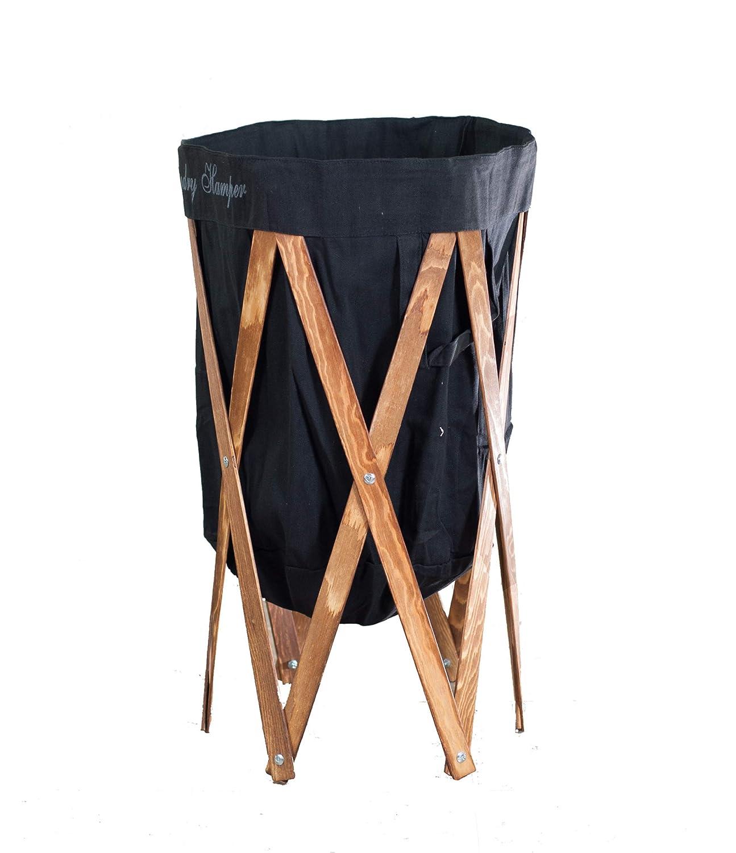 UPSHINING 大型折りたたみ式ランドリーバスケット 収納バスケット 折りたたみ可能なファブリックランドリーバスケット ブラック B07NTY5MRV