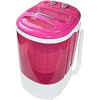 Syntrox Germany WM-200W Waschmaschine mit Schleuder Campingwaschmaschine Mini Waschmaschine (WM-200W-pink)
