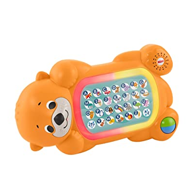 Fisher-Price Linkimals A to Z Otter - Interactive Educational Toy with Music and Lights for Baby Ages 9 Months & Up, Multicolor: Toys & Games