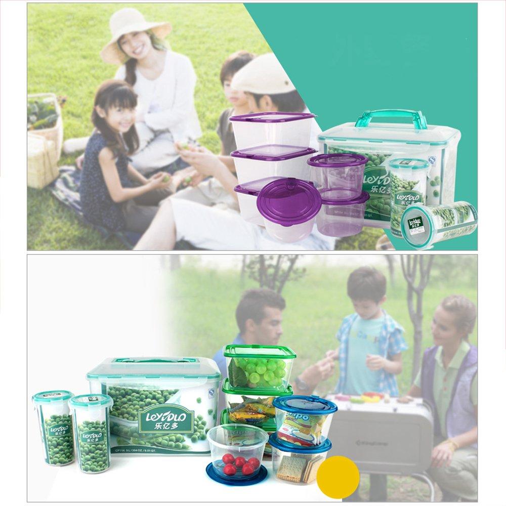 Ieasycan tazón de mezclar conjuntos juego de cuencos de almacenamiento frigorífico alta PP fresco mantener caja para cocina ama de casa: Amazon.es: Hogar