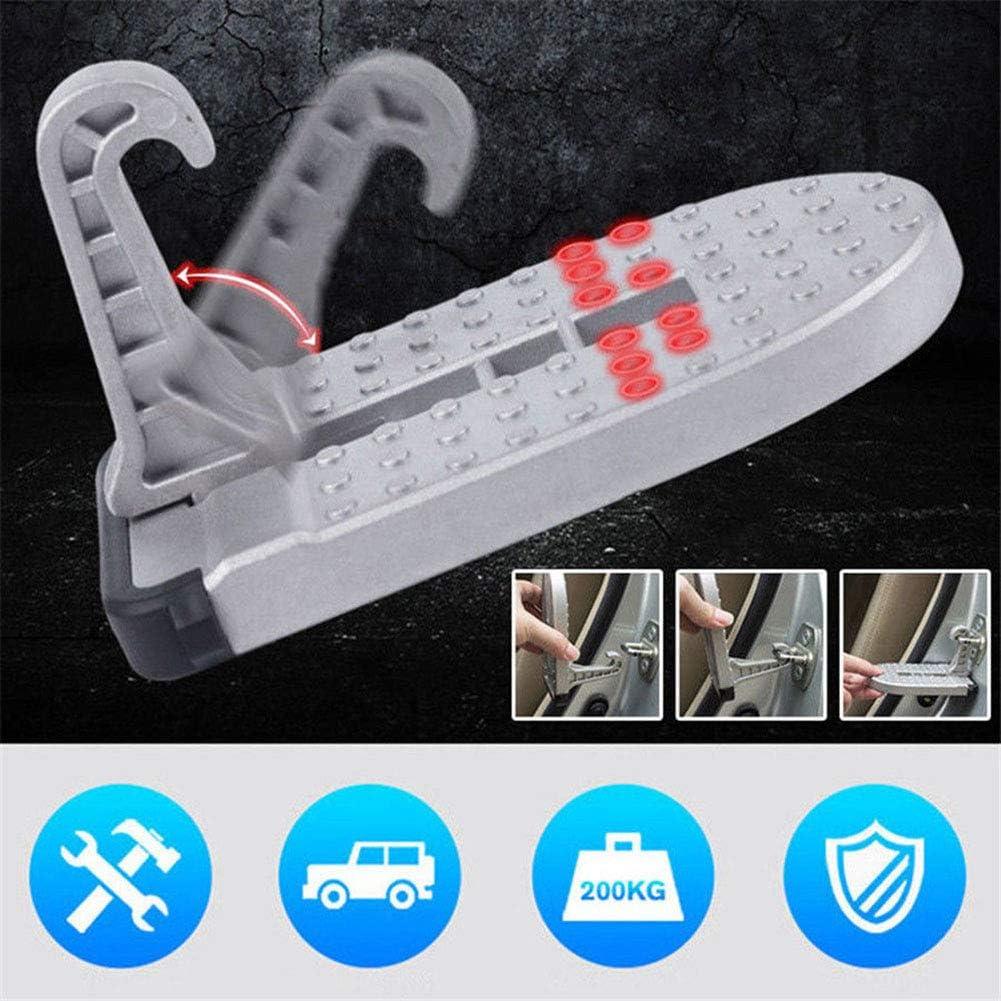 Acutty Aluminium Alloy Auto Doorstep Roof Ladder Fu/ßball Stand Latch Step Rooftop Pedal