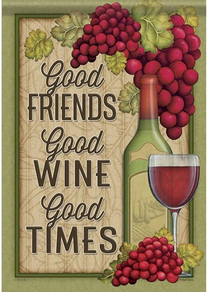 ClustersN 46963 Wine Good Times Classic Outdoor Garden Flag
