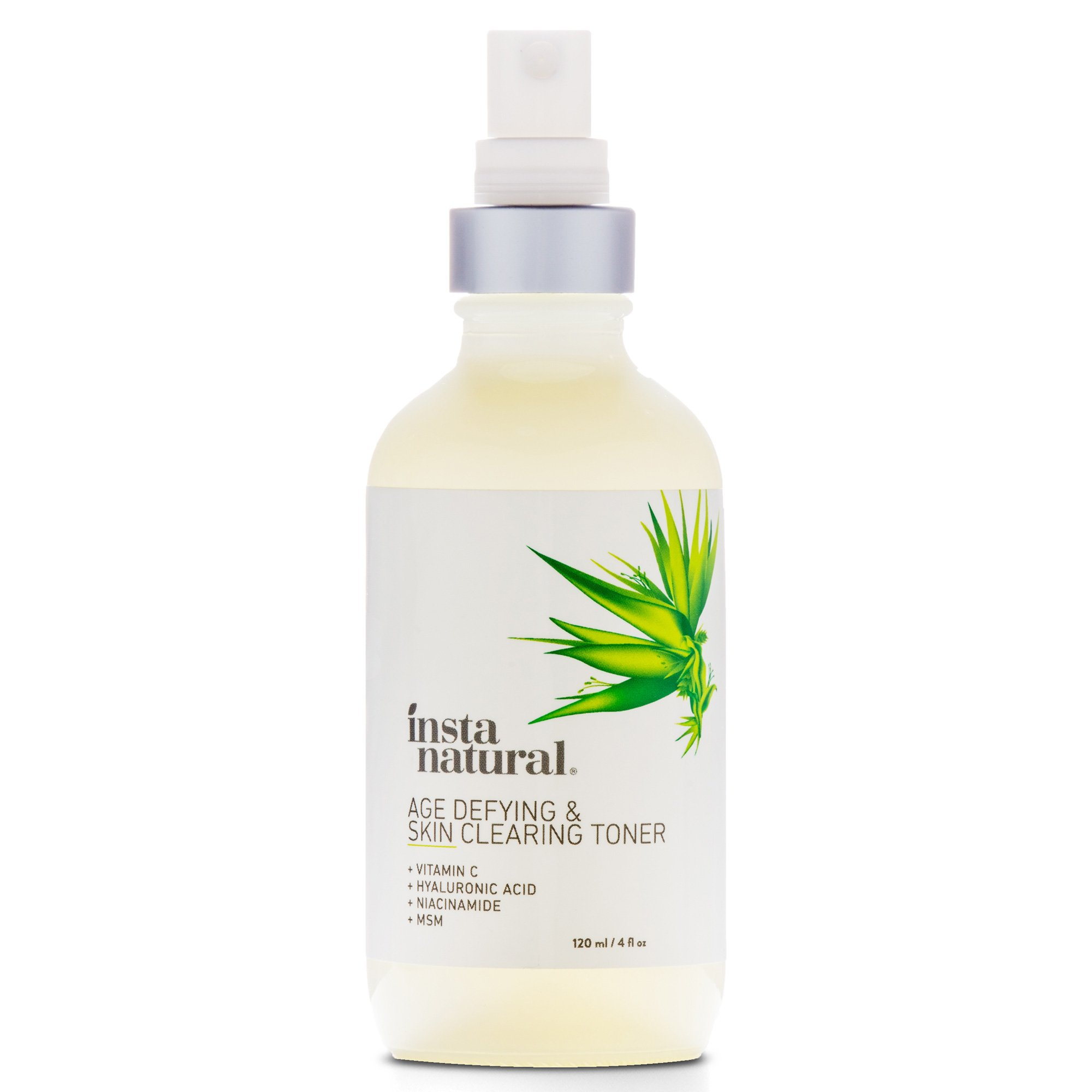 Vitamin C Skin Clearing Face Toner - Natural & Organic Anti Aging Formula with Salicylic Acid & Hyaluronic Acid - Helps Wrinkle, Dark Spot, Fine Lines - Safe for Sensitive Skin - InstaNatural - 4 oz by InstaNatural (Image #2)