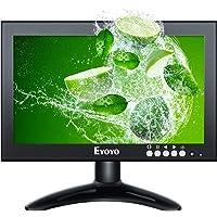 Eyoyo 8 inch 16:9 HD Monitor, Portable 1280X720 IPS 72NSTC High-Resolution IPS Full View Display Screen Support HD/VGA…