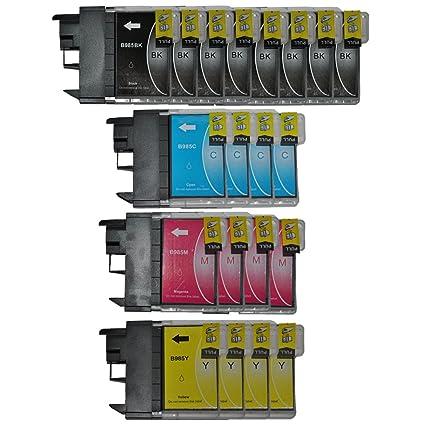 Tintetec ® - Pack de 20 cartuchos compatibles para Brother LC985