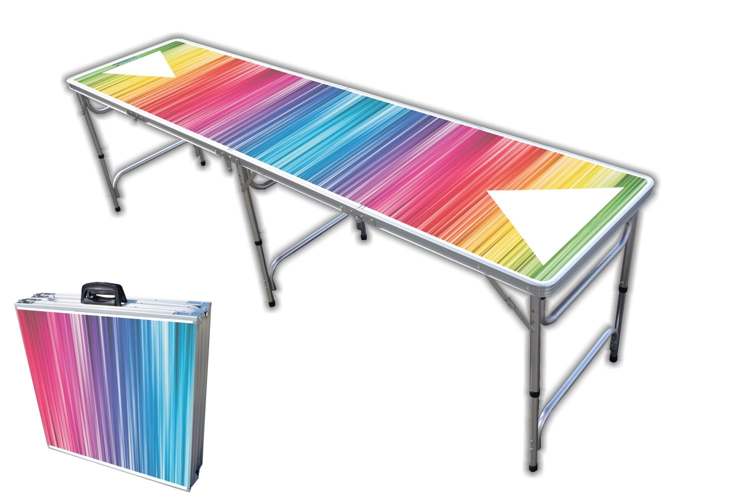 8-Foot Professional Beer Pong Table - Color Spectrum Graphic by PartyPongTables.com