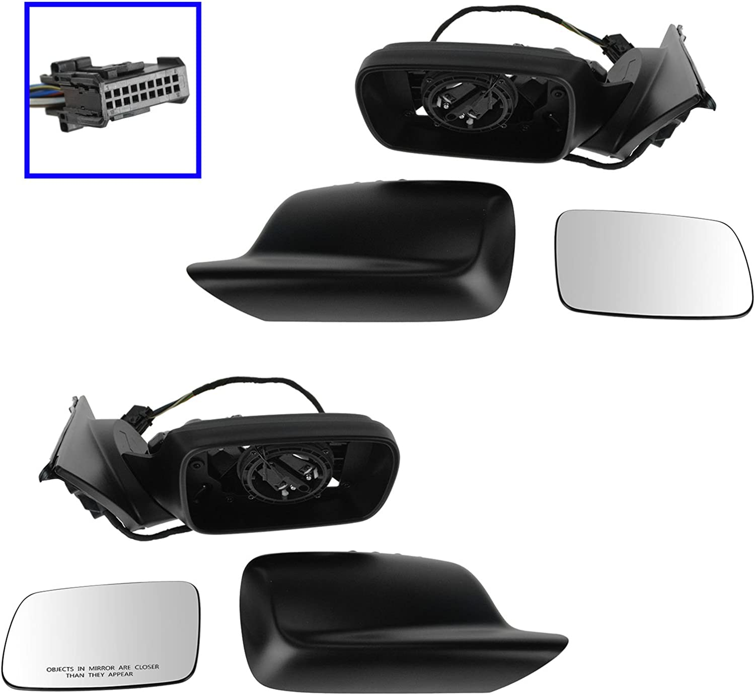 Mirror Power Heated Power Folding Memory RH Right Passenger Side for BMW