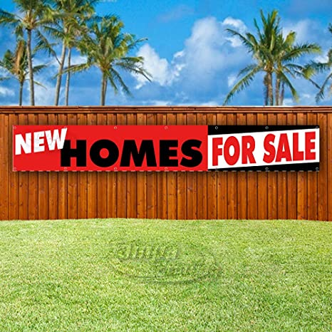 Amazon.com: New Homes - Cartel de vinilo para venta extra ...