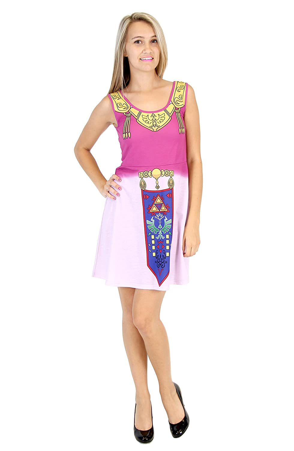 sc 1 st  Amazon.com & Amazon.com: Nintendo The Legend of Zelda Costume Tank Dress: Clothing