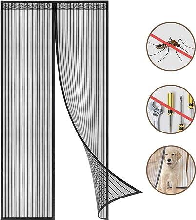 Blanc Portes pour Couloirs 85 x 210 cm Moustiquaire Porte Magn/étique Moustiquaire sur Mesure de Porte,Rideau de Porte Antimoustique Patio.Facile /à Installer Le Joint d/étanch/éit/é