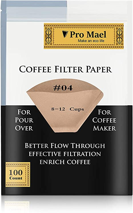 100Pcs Coffee Paper Filter for Coffee Hand-poured Coffee Filter Drip 2-4 Cup yy