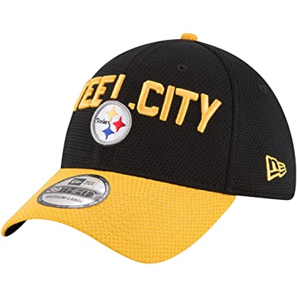 c24c23cfd33 New Era Pittsburgh Steelers 2018 NFL Draft Spotlight 39THIRTY Flex Hat - Black Gold (