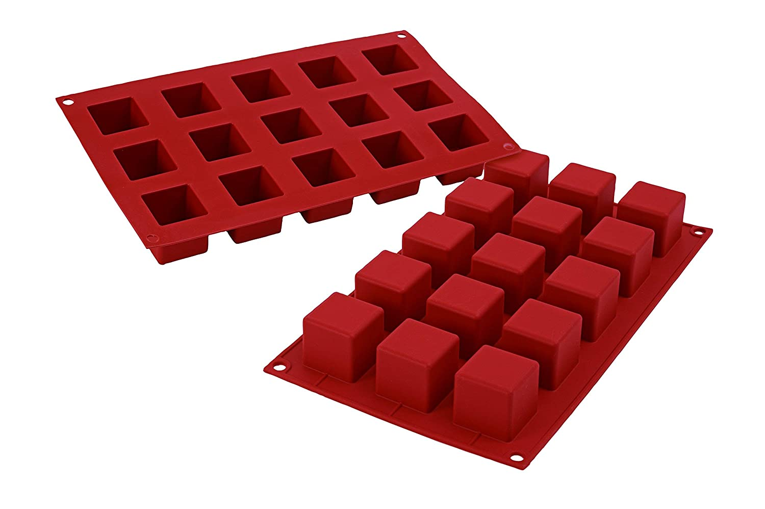 Silikomart SF104/C Silicone Classic Collection Mold Shapes, Cube, Large