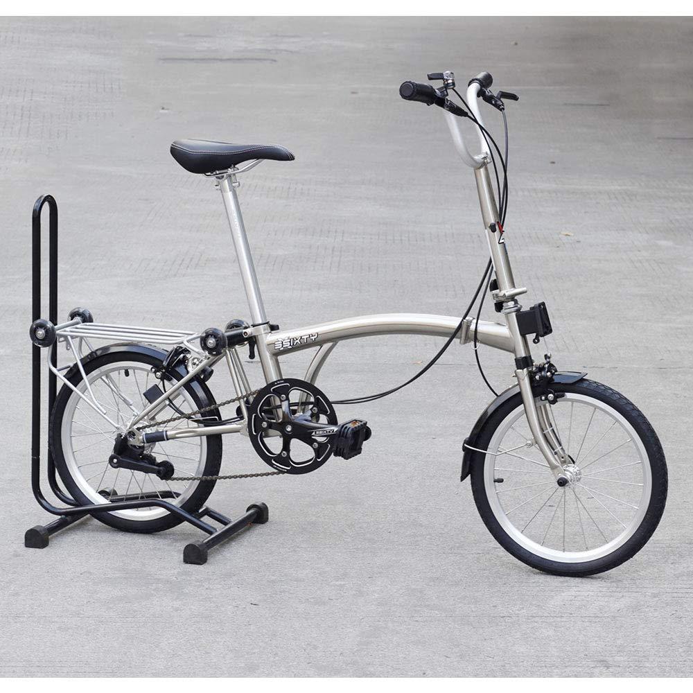 3SIXTY 折りたたみ自転車 16インチ 349 通勤 通学 街乗り 折り畳み自転車 3段変速 メッキシルバー M タイプバー