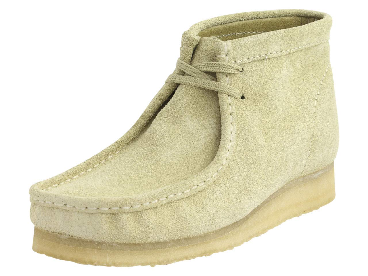 CLARKS Men's Wallabee Boot Fashion, Maple Suede, 100 M US