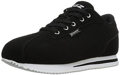 Mens Metric Fashion Sneaker, Black/White, 9 M US Lugz