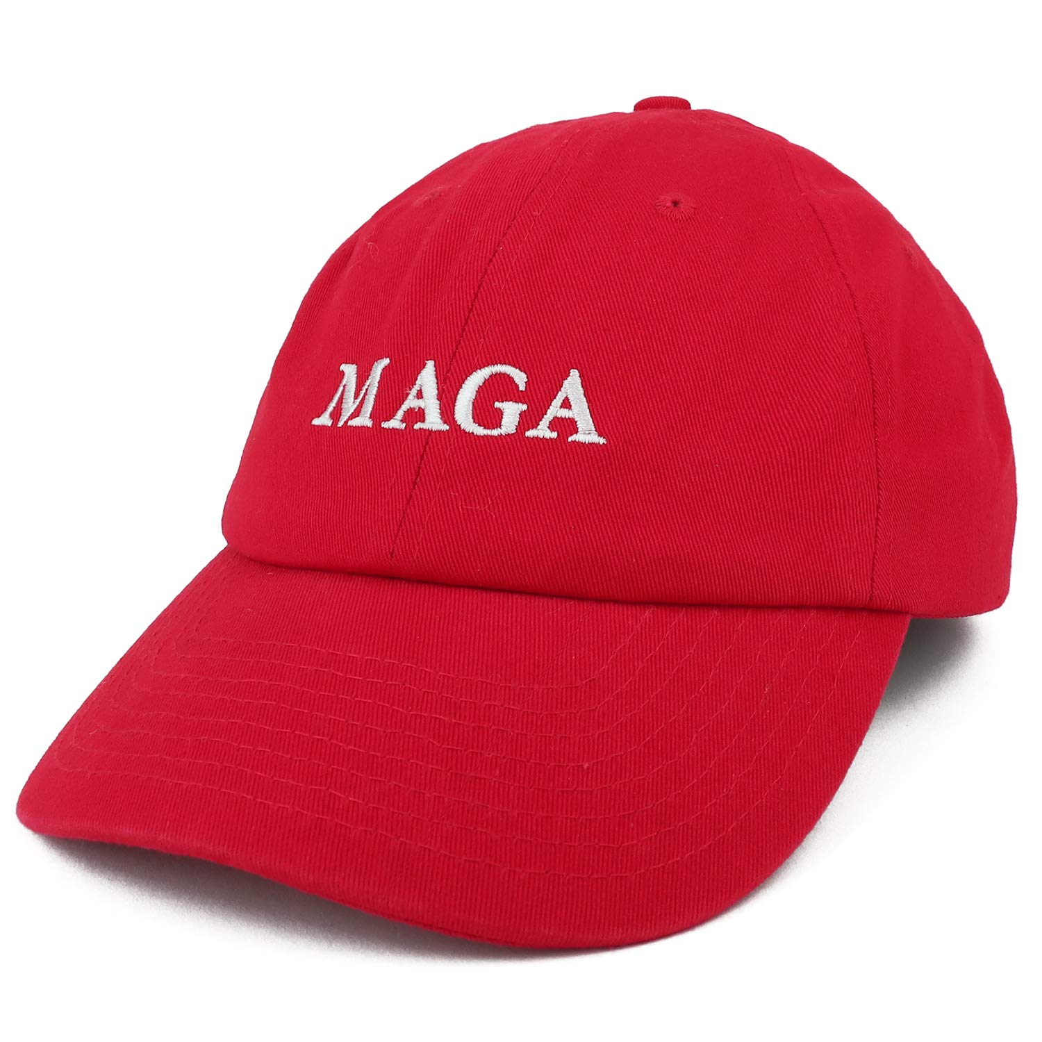 fef322f42 Armycrew Made in USA Donald Trump MAGA Embroidered Unstructured Soft Crown  Cap