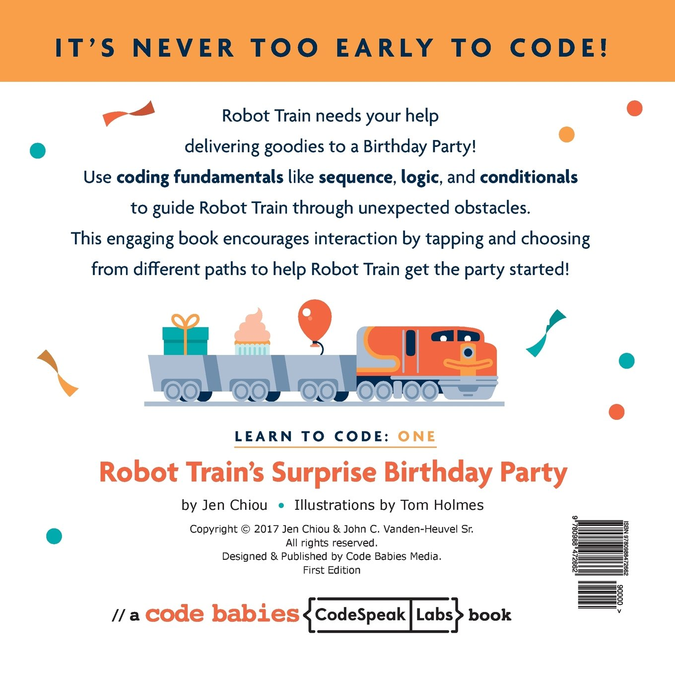 Learn to code: Robot Train's Surprise Birthday Party (Volume 1): Jen