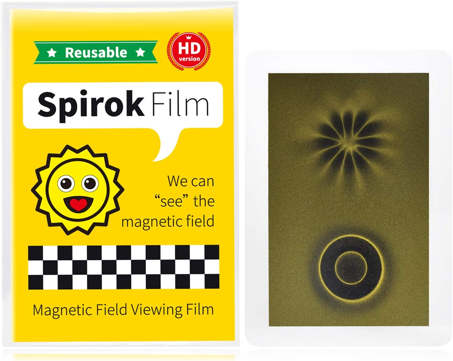 Credit Card Size with Lamination Magnetic Field Viewing Film Magnet Pattern Detector Spirok Film Science Fun