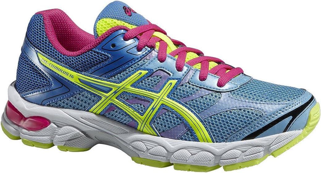 ASICS Gel-Cumulus 16 GS, Zapatillas de Running Hombre^Mujer, Azul (Soft Blue/Flash.Yellow/Powder Blue 4107), 32.5 EU: Amazon.es: Zapatos y complementos