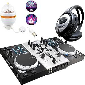 Hercules djcontrol Air S controlador DJ Party Pack Incluye LED de ...