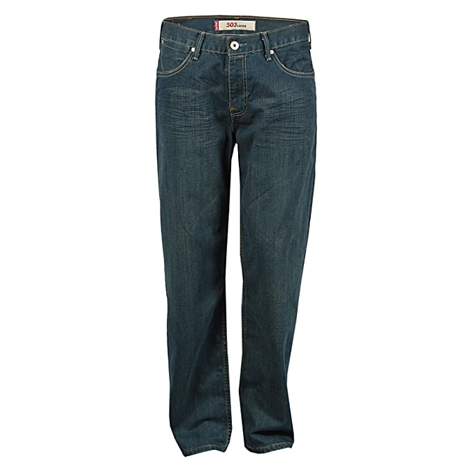 a97b2ebb2dd Levi's Mens 503 Loose Reput Jeans in Dark Blue - 30L: Levis: Amazon ...