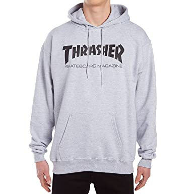 Amazon.com  Thrasher Skate Mag Hoodie - Grey  Clothing 6fcbb9037498