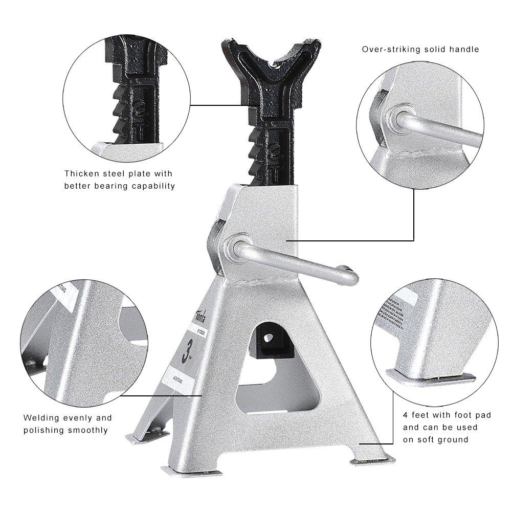 TONDA Steel Jack Stands, 3 Ton Capacity, 1 Pair by TONDA (Image #2)