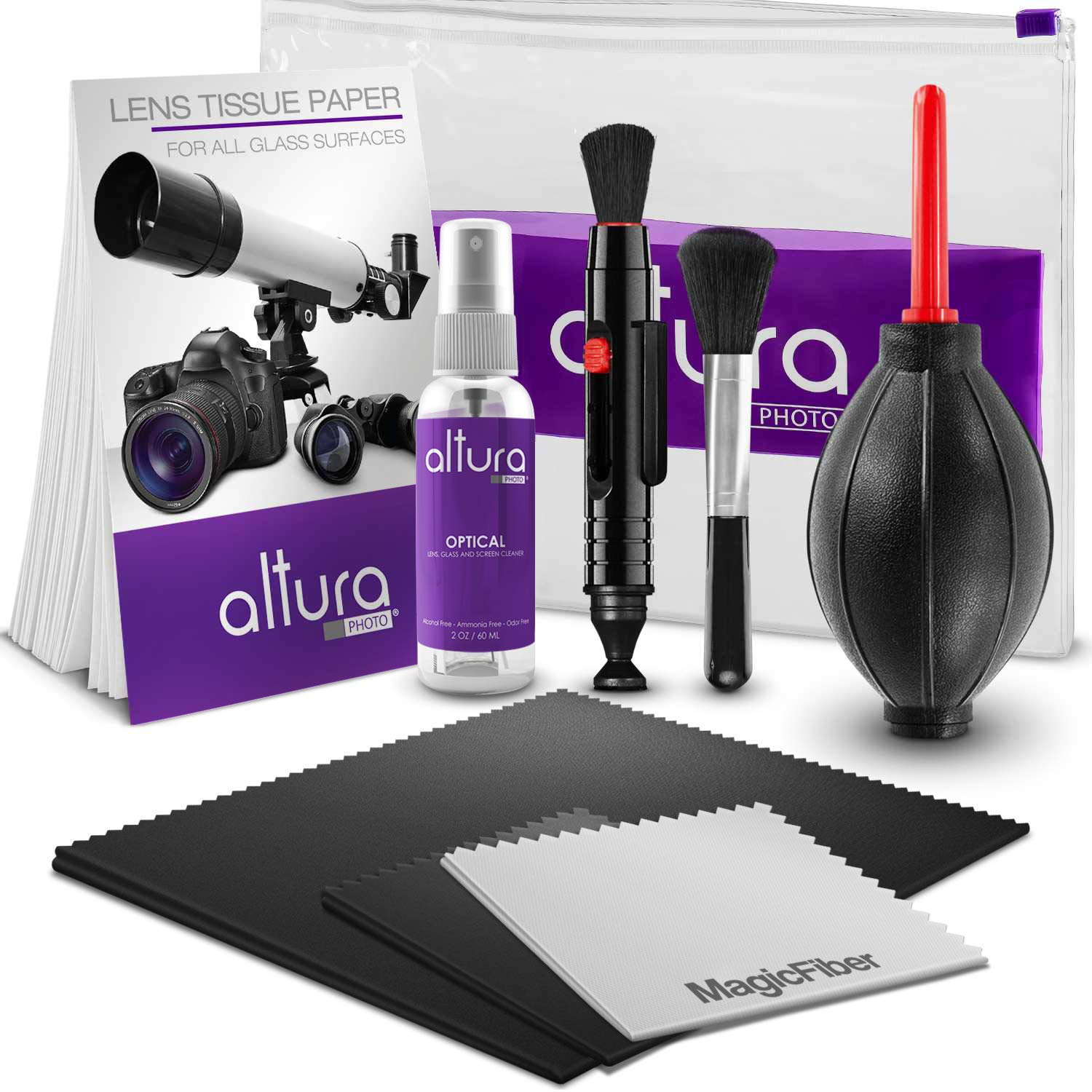 Altura Photo Professional Cleaning Kit for DSLR Cameras and Sensitive Electronics Bundle with 2oz Altura Photo Spray Lens and LCD Cleaner by Altura Photo