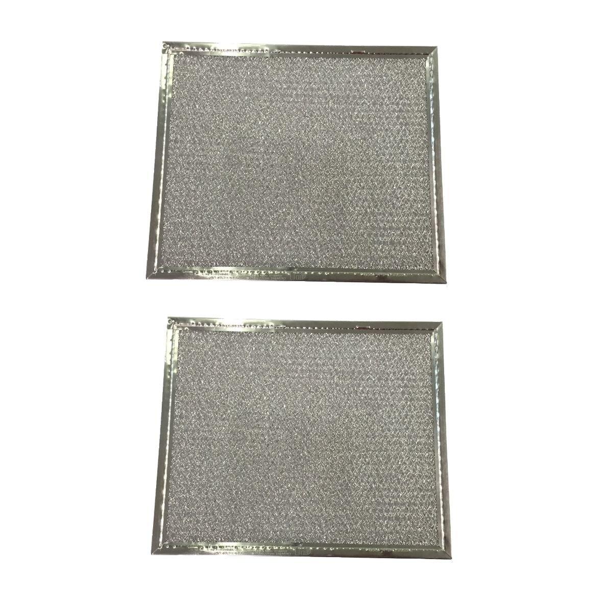 (2) Range Hood Vent Grease Filter 8 x 9.5 x 3/32 Aluminum - NEW