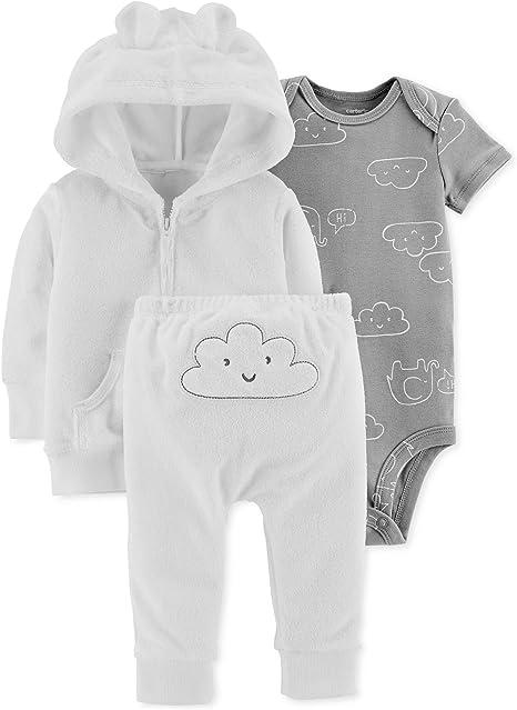 New Carter/'s infant Baby Girls Boys 3 Piece Bodysuit /& Pant Set VARIETY