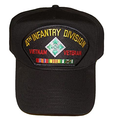 d61b5549c4d Image Unavailable. Image not available for. Color  4th INFANTRY DIVISION VIETNAM  VETERAN HAT with ribbons ...