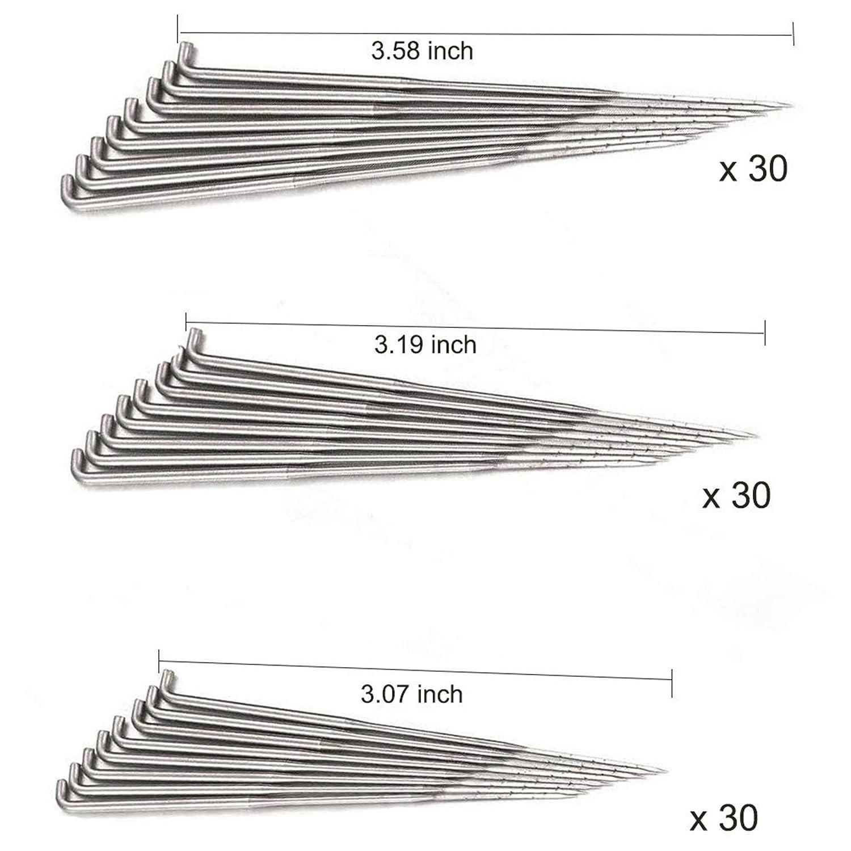 DABHAND 90 PCS Wool Felting Needles,3 Size Triangular Point Felting Needles DIY Wool Pin Felting Tools Kits with 3 Pcs Needle Bottle