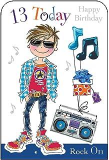 Jonny Javelin Boy Age 13 Birthday Card