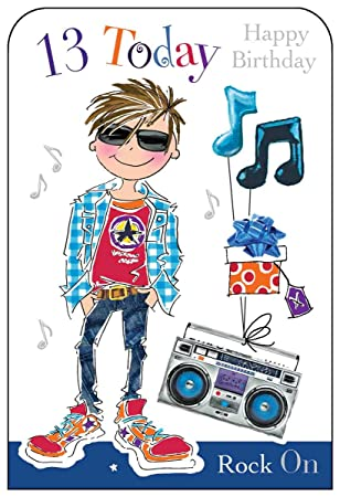 Jonny Javelin Boy Age 13 Birthday Card Amazon Office Products