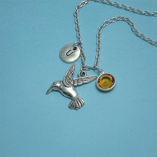 ec9e03fe6 Silver hummingbird necklace silver Hummingbird jewelry Bird necklace Nature  necklace Silver hummingbird charm necklace Hummingbird gift Kids bird  necklace ...