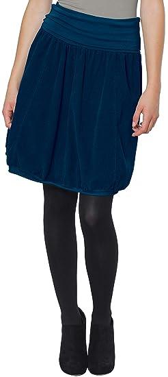 4bd90f7dd496 CASPAR RO004 Jupe hiver en velours pour femme - jupe boule avec ceinture  stretch - plusieurs