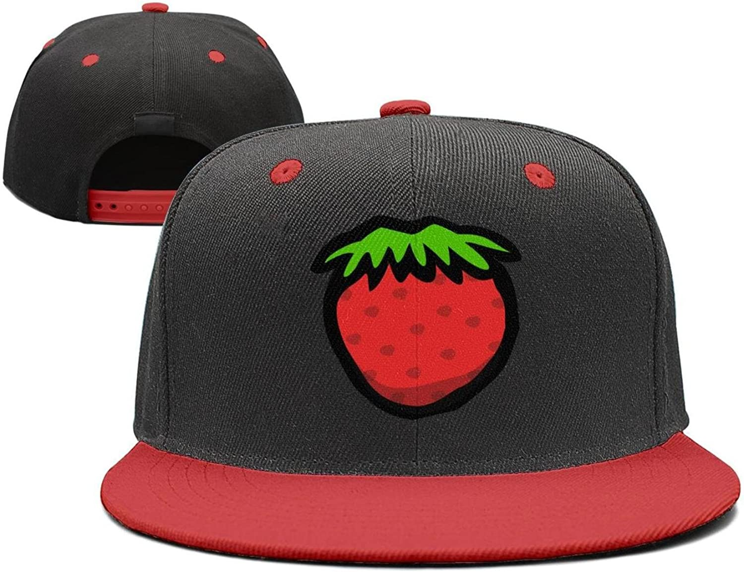 Coolhat Womens Mens Berries Pineapple Berries Watermelon Printed Adjustable Basketball Hat