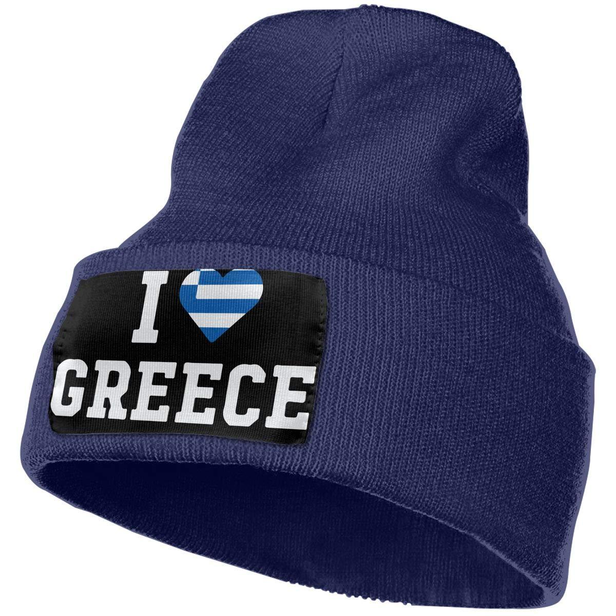 I Love Greece Flag Heart Men Women Knit Hats Stretchy /& Soft Beanie Cap Hat Beanie