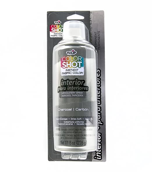 Amazon.com: Tulip ColorShot Instant Fabric Color Interior Upholstery Spray 8 oz - Charcoal